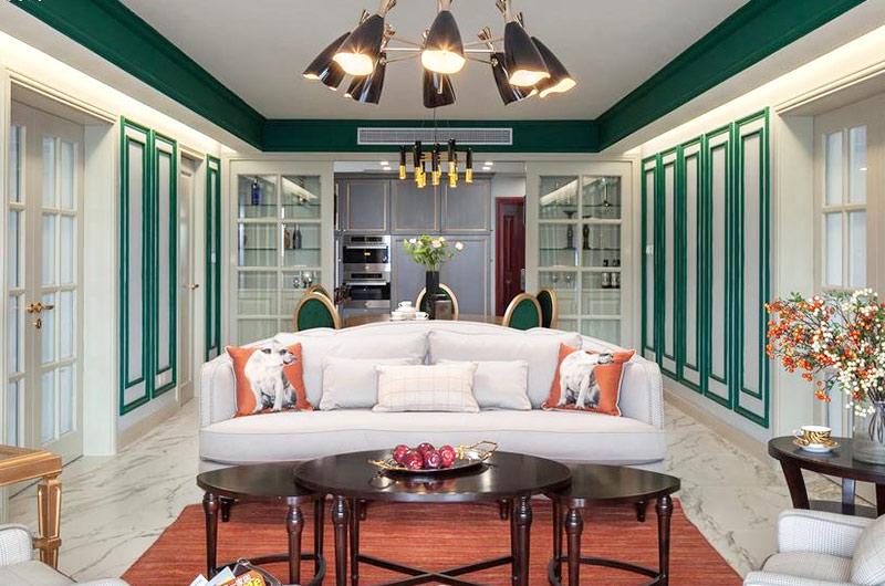 乔治庄园 美式风格 三居室 180平米