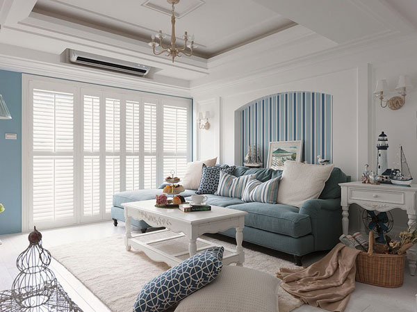 武汉江夏区 地中海 两居室 88平米